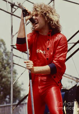 Photograph - Sammy Hagar -  Day On The Green In Oakland Ca 5-6-79 by Daniel Larsen