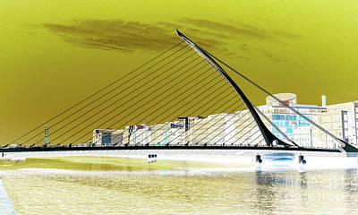 Photograph - Samuel Beckett Bridge Dublin by Lexa Harpell