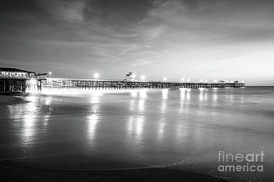 San Clemente Photograph - San Clemente Pier Black And White Picture by Paul Velgos