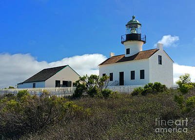 Photograph - San Diego Light House by Gregory Dyer