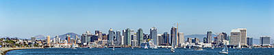 San Diego Skyline Art Print by Peter Tellone
