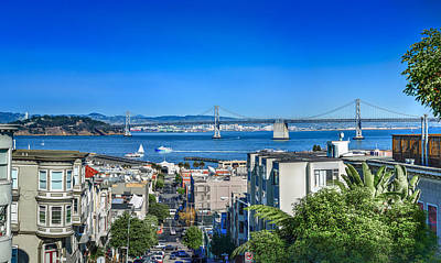 Photograph - Oakland Bay Bridge by David Zanzinger