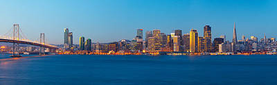 Bay Bridge Photograph - San Francisco Financial District by Panoramic Images