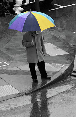 Photograph - San Francisco In The Rain by Aidan Moran