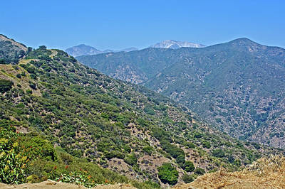 Photograph - San Gabriel Mountains From Glendora Ridge Road, California by Ruth Hager