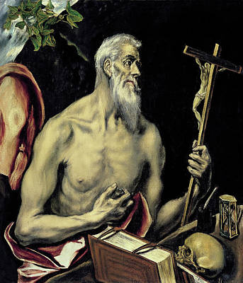 Jer Painting - San Jeronimo by El Greco