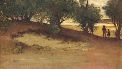 Painting - Sand Bank With Willows, Magnolia by William Morris Hunt