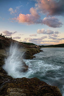 Photograph - Sand Beach Cliffs by Darylann Leonard Photography