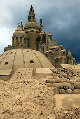 Sand Castle Print by Sophie Vigneault