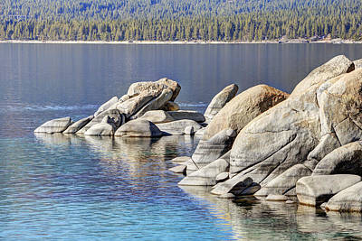 Abstract Shapes Janice Austin - Sand Harbor Lake Tahoe Looking North by Marv Vandehey