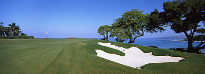 Kea Photograph - Sand Trap In A Golf Course, Manua Kea by Panoramic Images
