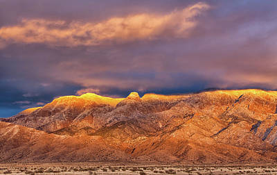 Photograph - Sandia Crest Stormy Sunset by Alan Vance Ley