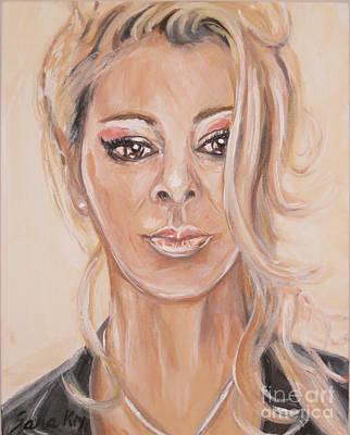 Painting - Sandra. Acrylic Painting by Oksana Semenchenko