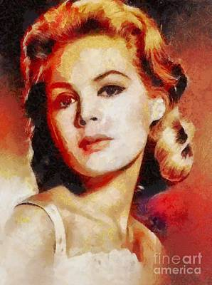 Dee Painting - Sandra Dee, Vintage Hollywood Actress by Mary Bassett
