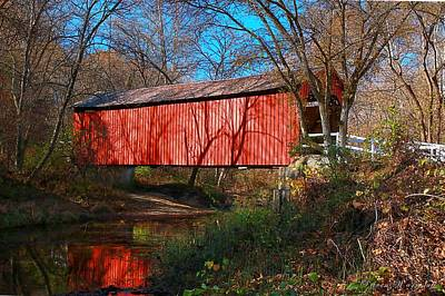 Sandy /creek Covered Bridge, Missouri Art Print