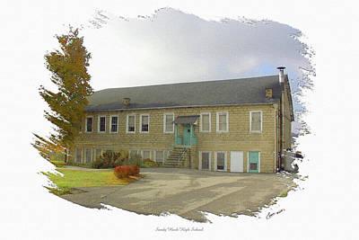 Sandy Hook Digital Art - Sandy Hook High School West Building by Randall Evans