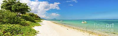 Studio Grafika Zodiac - Sandy tropical beach. Panorama. by MotHaiBaPhoto Prints