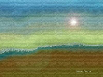 Nature Scene Mixed Media - Sangre De Cristos by Lenore Senior