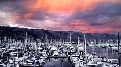 Photograph - Santa Barbara Harbor Sunset by Danuta Bennett