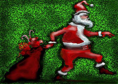 Santa Claus Greeting Card - Santa Claus by Kevin Middleton