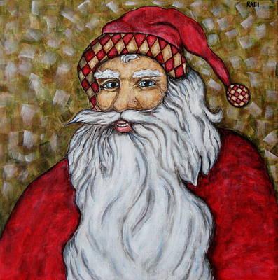 Rain Ririn Painting - Santa Claus by Rain Ririn