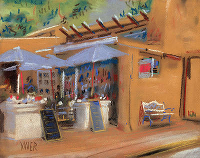 Mexico Drawing - Santa Fe Cafe by Donald Maier