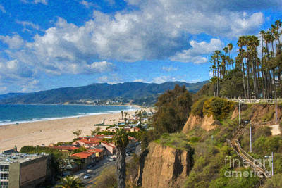 Photograph - Santa Monica Ca Steps Palisades Park Bluffs  by David Zanzinger