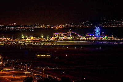 Photograph - Santa Monica Pier Light Show - Series 3 by Gene Parks