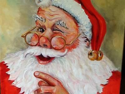 Santa Winking II Original