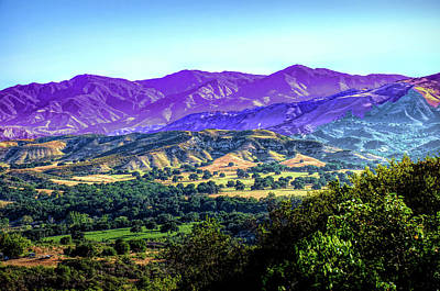 Photograph - Santa Ynez Valley by Joseph Hollingsworth