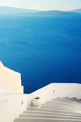 Photograph - Santorini Island Street View by Songquan Deng