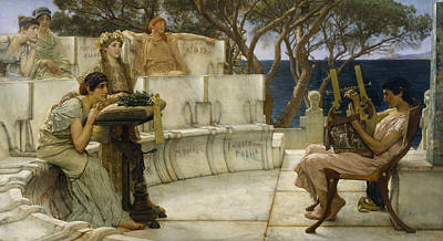 Ancient Rome Painting - Sappho And Alcaeus by Lawrence Alma-Tadema