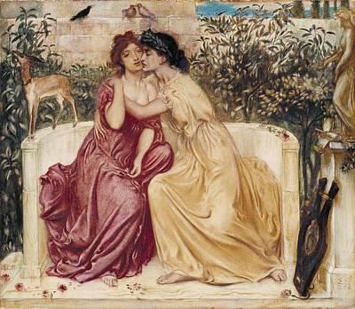 Sappho And Erinna In A Garden At Mytilene Art Print