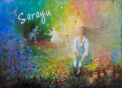 Painting - Sarayu by Janet McGrath