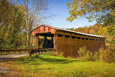 Photograph - Sarvis Fork Or Sandyville Covered Bridge by Jack R Perry