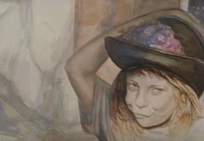 Sass In A Hat Original by Donna Perryman