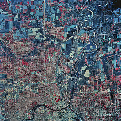 Satellite View Of Washington, D.c Art Print
