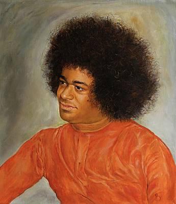 Baba Painting - Sathya Sai Baba by Eva Santi