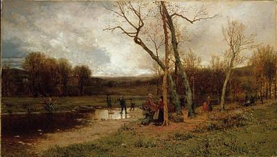 Mcentee Painting - Saturday Afternoon by Jervis McEntee