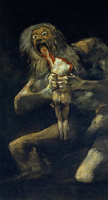 18th Century Painting - Saturn Devouring His Son by Francisco Goya