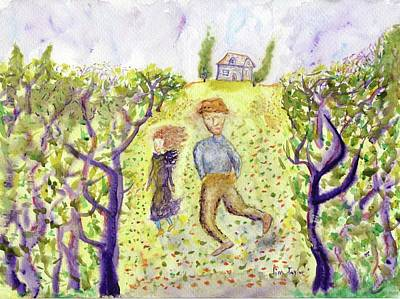 Painting - Sauntering Couple by Jim Taylor