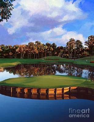 Painting - Sawgrass 17th Hole by Tim Gilliland