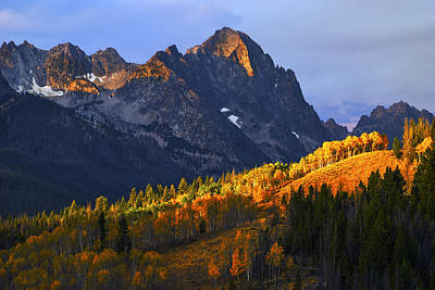 Sawtooth Mountain Art Photograph - Sawtooth Autumn Stanley Idaho Usa by Vishwanath Bhat
