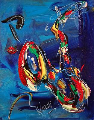 SAX Art Print by Mark Kazav