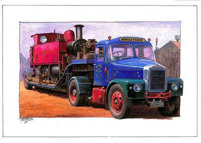 Scammell Highwayman. Art Print