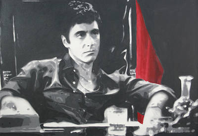 Painting - Scarface by Luis Ludzska