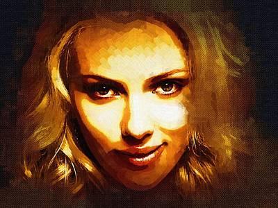 Scarlett Johansson Art Art Print by Best Actors