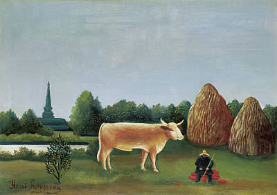 Idyllic Painting - Scene In Bagneux On The Outskirts Of Paris by Henri Rousseau