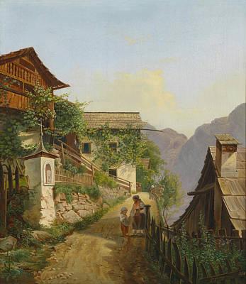 Scene Of Hallstatt Art Print by Celestial Images