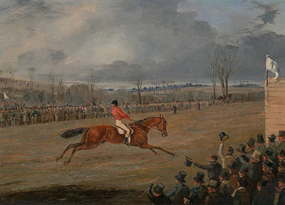 Painting - Scenes From A Seeplechase - The Winner by Treasury Classics Art
